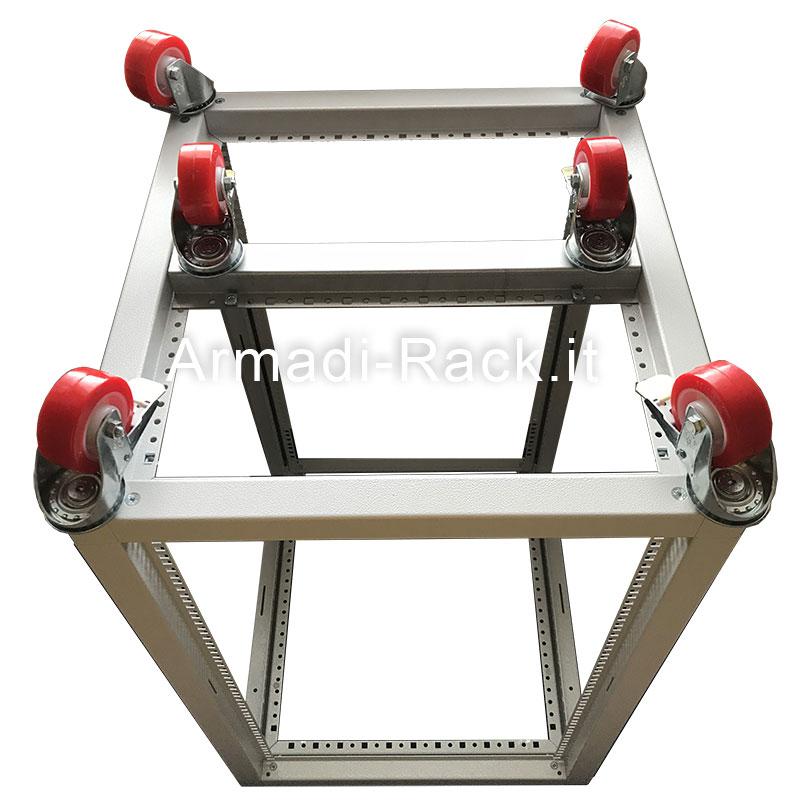 """traversa di sostegno ruote rinforzate per armadio rack 19"""""""
