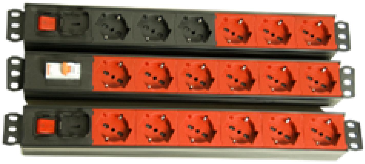 """multiprese e striscie di alimentazione UNEL universali bipasso montaggio rack 19"""""""