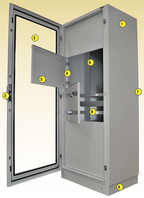 esempio di configurazione armadio metallico monoblocco