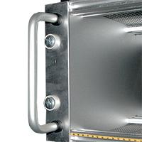 maniglie a ponte in alluminio, acciaio e plastica per cassetti sub-rack, scatole e contenitori
