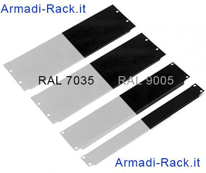 pannelli rack 19 in acciaio verniciato grigio ral 7035 e nero ral 9005