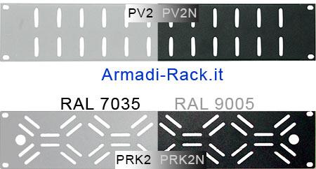 """tappi rack 19"""" areati con asole di diverse forme"""