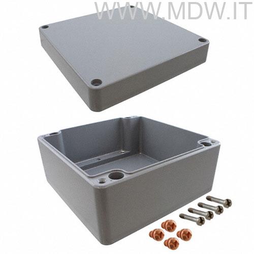 MBA 202318 (200x230x180 mm) custodia in alluminio a norma DIN EN 60529, IP66, colore grigio RAL 7001