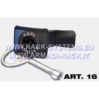 Quadri Elettrici  Accessori e ferramenta  serratura imposta doppia aletta 3mm - MDW RACK ...