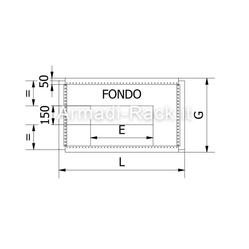 Struttura armadio dimensioni in mm l 1200 h 1800 p 600 for Dimensioni armadio