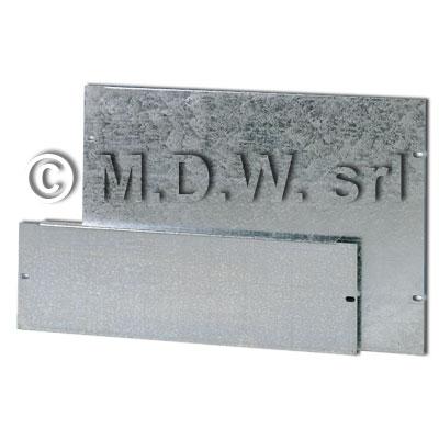 Piastra zincata aggiuntiva per base 621, 550 x 612 mm