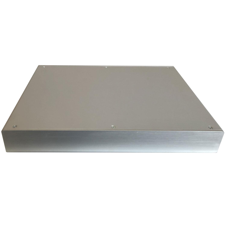 Custodia in alluminio doppio guscio a 'C' uniti da frontale e posteriore H=87, L=333, P=213 mm
