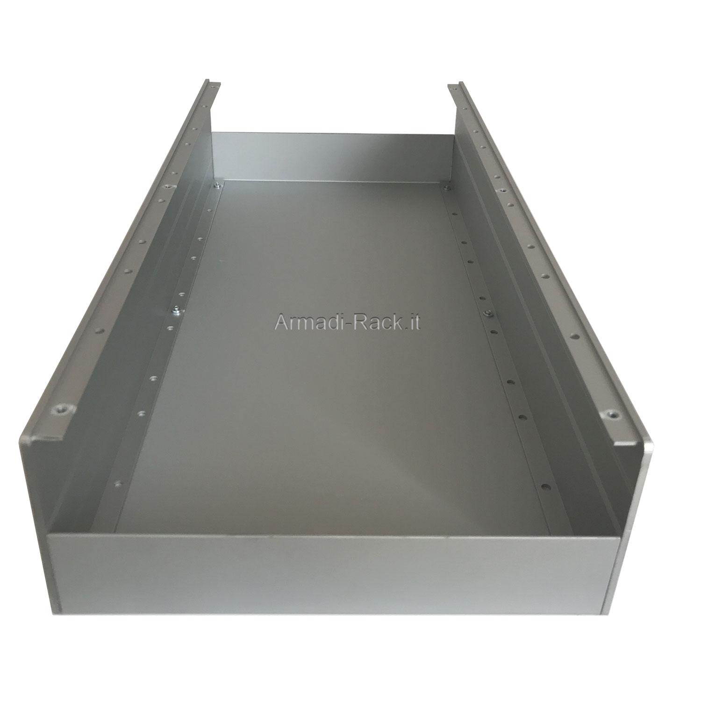 Custodia in alluminio doppio guscio a 'C' uniti da frontale e posteriore H=87, L=434, P=213 mm