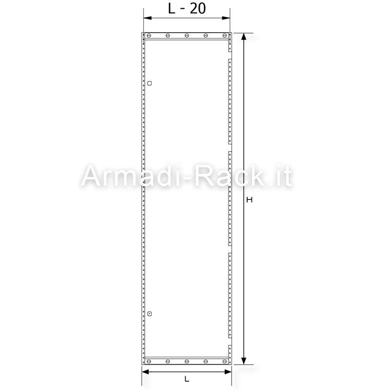 Porta interna cieca dimensioni 487 x 1800 per codici 2951 - Dimensioni porta ...