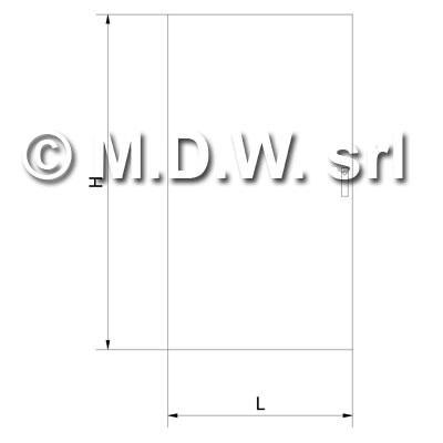 Porte esterne cieche dimensioni 984 x 1690 / per codici 2931-2932-2933-2934