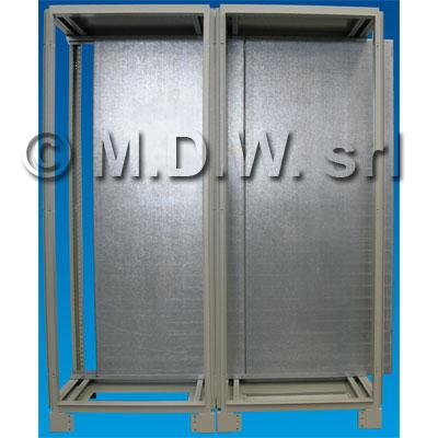 particolare montaggio piastra zincata in armadio doppio