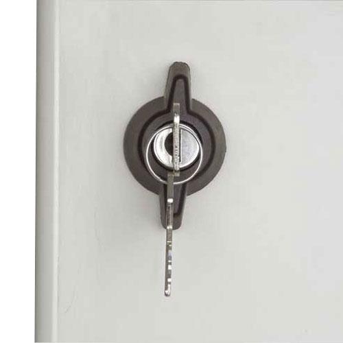 Chiusura a serratura con chiave codificata