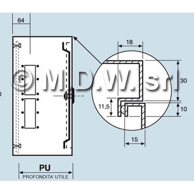 Quadro elettrico di comando IP 55 misure 1300Lx700Hx350