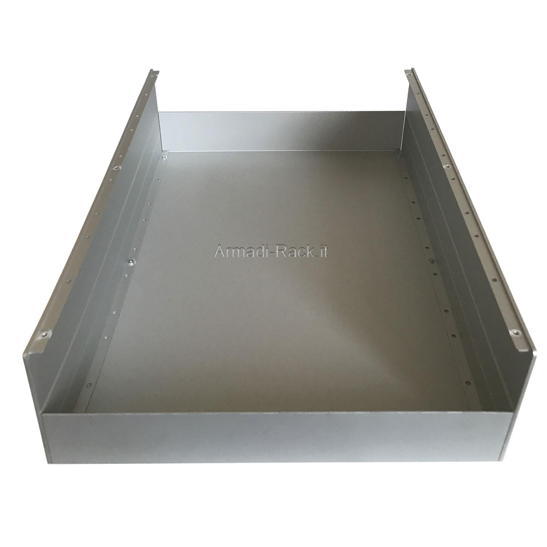 Custodia in alluminio doppio guscio a 'C' uniti da frontale e posteriore H=130, L=434, P=357 mm