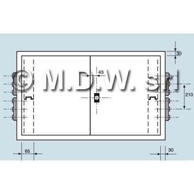 Quadro elettrico di comando IP 55 misure 1500Lx700Hx350