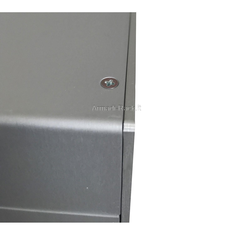Custodia in alluminio doppio guscio a 'C' uniti da frontale e posteriore H=130, L=434, P=441 mm