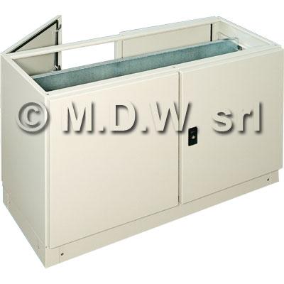 Base con doppia porta a battente, dimensioni 1600L x 700H x 500P con piastra interna 1550 x 612