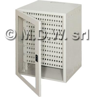 Contenitore da parete per reti monoblocco 8U