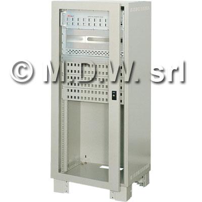 Armadio elettrico con montanti rack 20 U misure 550 (L) x 1036 (H) x 500 (P) incluso zoccolo alto 100 mm