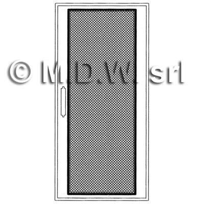 Kit porta grigliata struttura con finestra in griglia di - Larghezza porta finestra ...