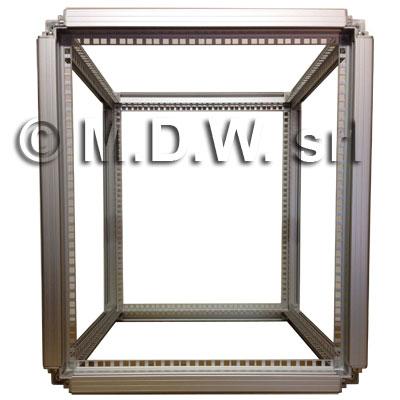 Telaio rack open frame 19 pollici - 12U X 551 X 818 (L x P mm), in alluminio anodizzato
