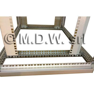 Telaio rack - open frame 19 - 12U X 818 X 730 (L x P mm), in alluminio anodizzato