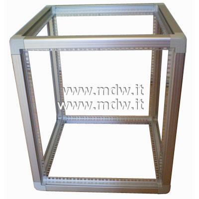 Telaio rack open frame 19 pollici - 15U X 551 X 596 (L x P mm), in alluminio anodizzato