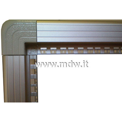 Telaio rack open frame 19 pollici - 18u x 551 x 818 (l x p mm), in alluminio anodizzato