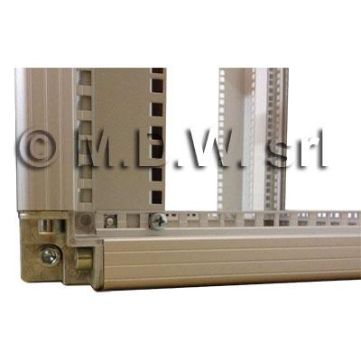 Telaio rack open frame 19 pollici - 20u x 596 x 818 (l x p mm), in alluminio anodizzato