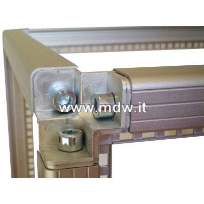 Telaio rack open frame 19 pollici - 18u x 596 x 596 (l x p mm), in alluminio anodizzato