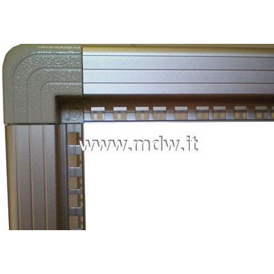 Telaio rack open frame 19 pollici - 24u x 551 x 551 (l x p mm), in alluminio anodizzato