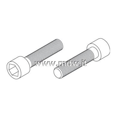 VTB10X30 - VITE M 10 X 30 (prezzo unitario per assemblare un telaio ne servono 24 - 3 per ogni angolare)