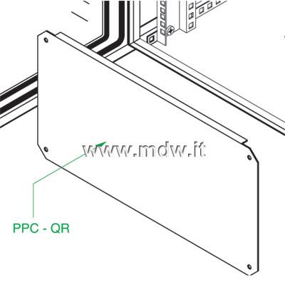 Piastra zincata porta componenti alta 6U