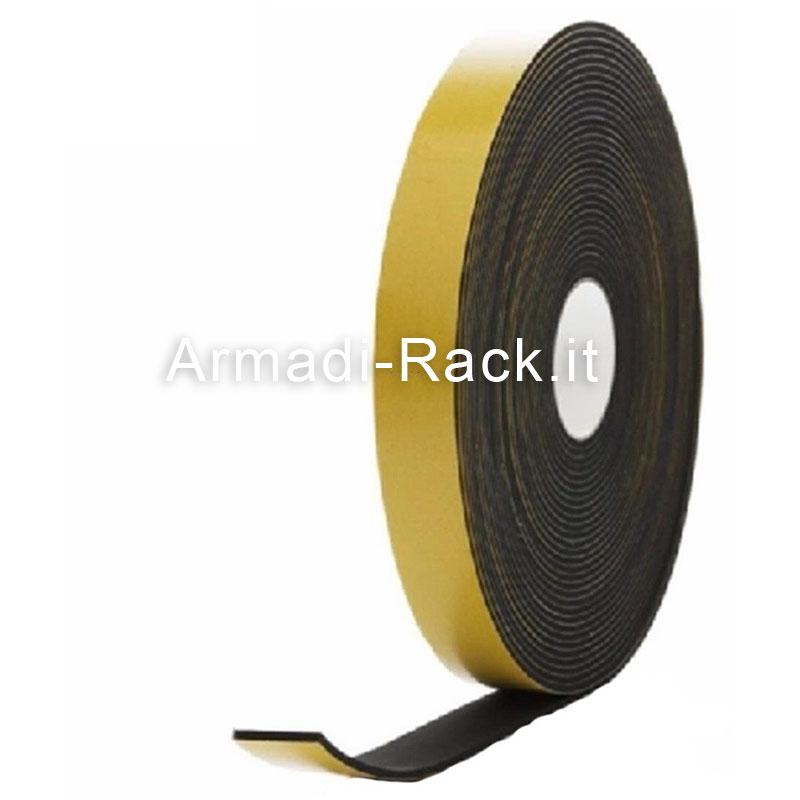 RG 10-10 Rotolo gomma in neoprene autoadesivo striscia di spugna lunghezza 10 M, altezza (T)=3 mm, larghezza (W)=10 mm
