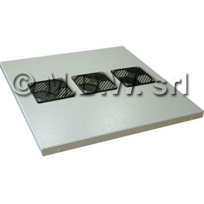 Tetto areato con griglie di predisposizione per 3 ventole 120 x 120 (non incluse), per armadio 596 x 996