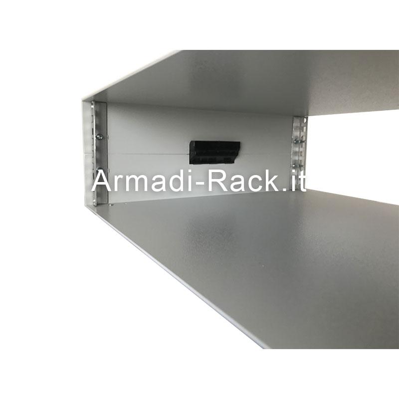 Contenitore standard rack alto 3U (140mm), largo 84TE/19 pollici (496mm), profondo 400 mm