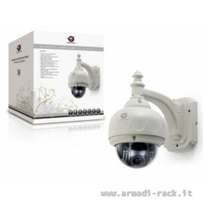 Telecamera videosorveglianza dome wireless 720p da esterno for Telecamere da esterno casa