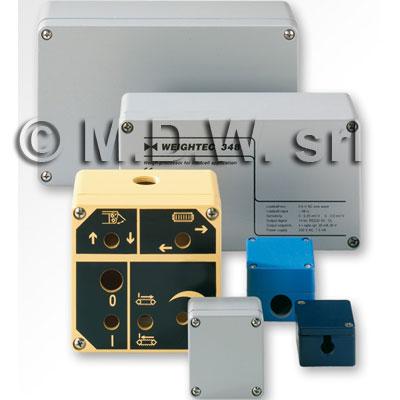 MBA 128012 (125x80x125 mm) custodia in alluminio a norma DIN EN 60529, IP66, colore grigio RAL 7001