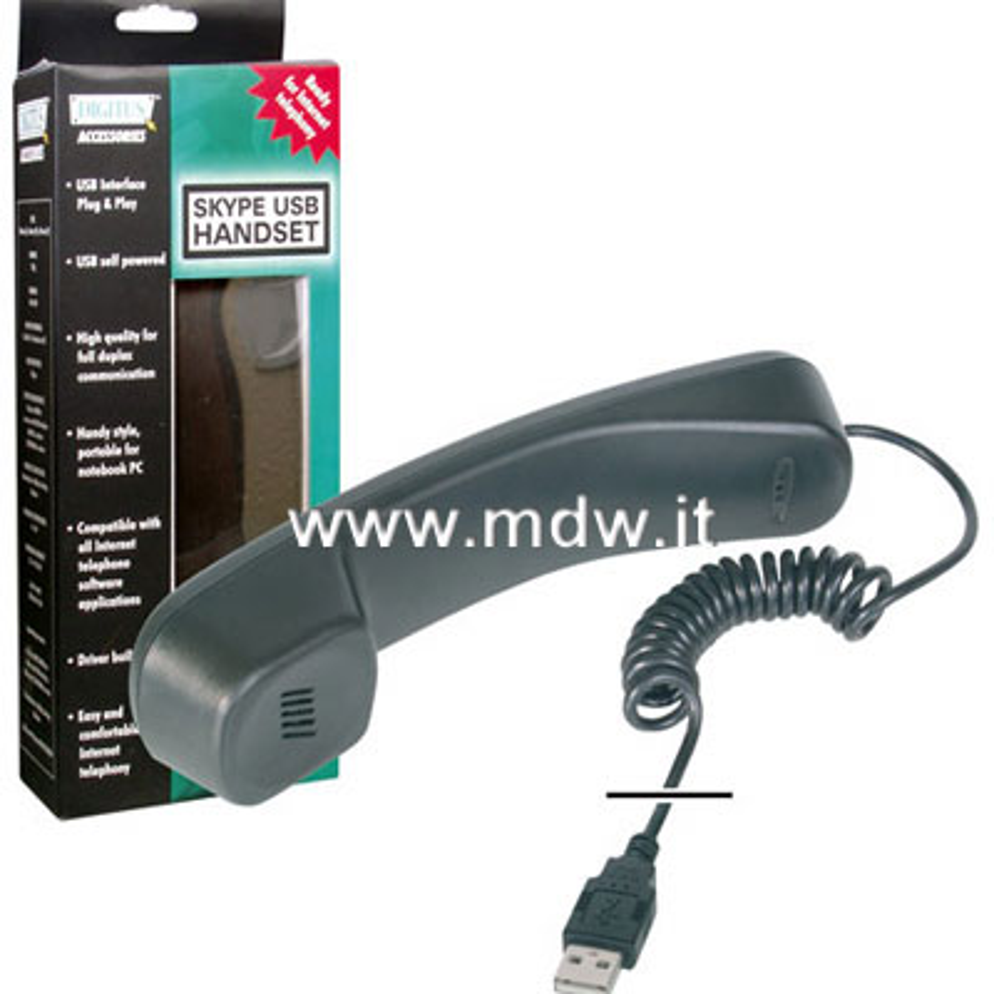 CORNETTA TELEFONICA USB PER USO VOIP E SKYPE
