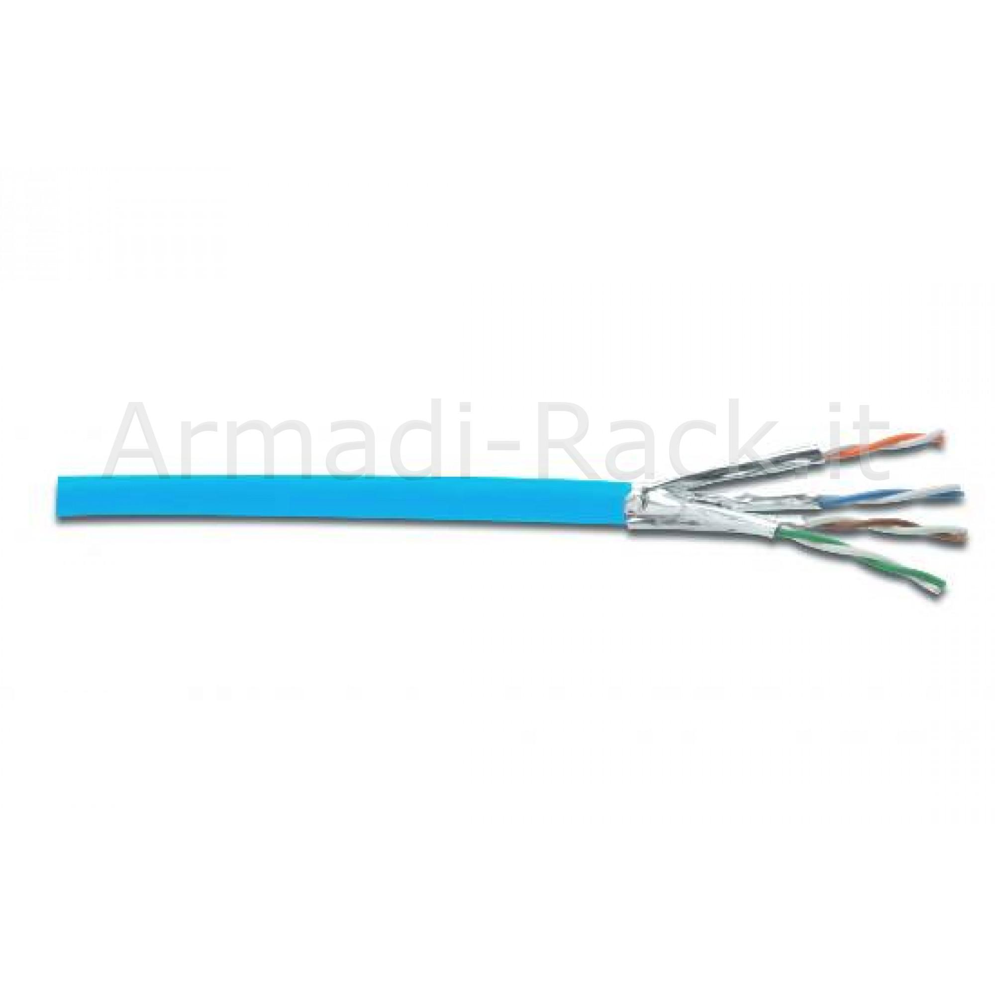 Matassa 100 mt. cavo solido schermato u/ftp halogenfree per reti categoria 6a in rame