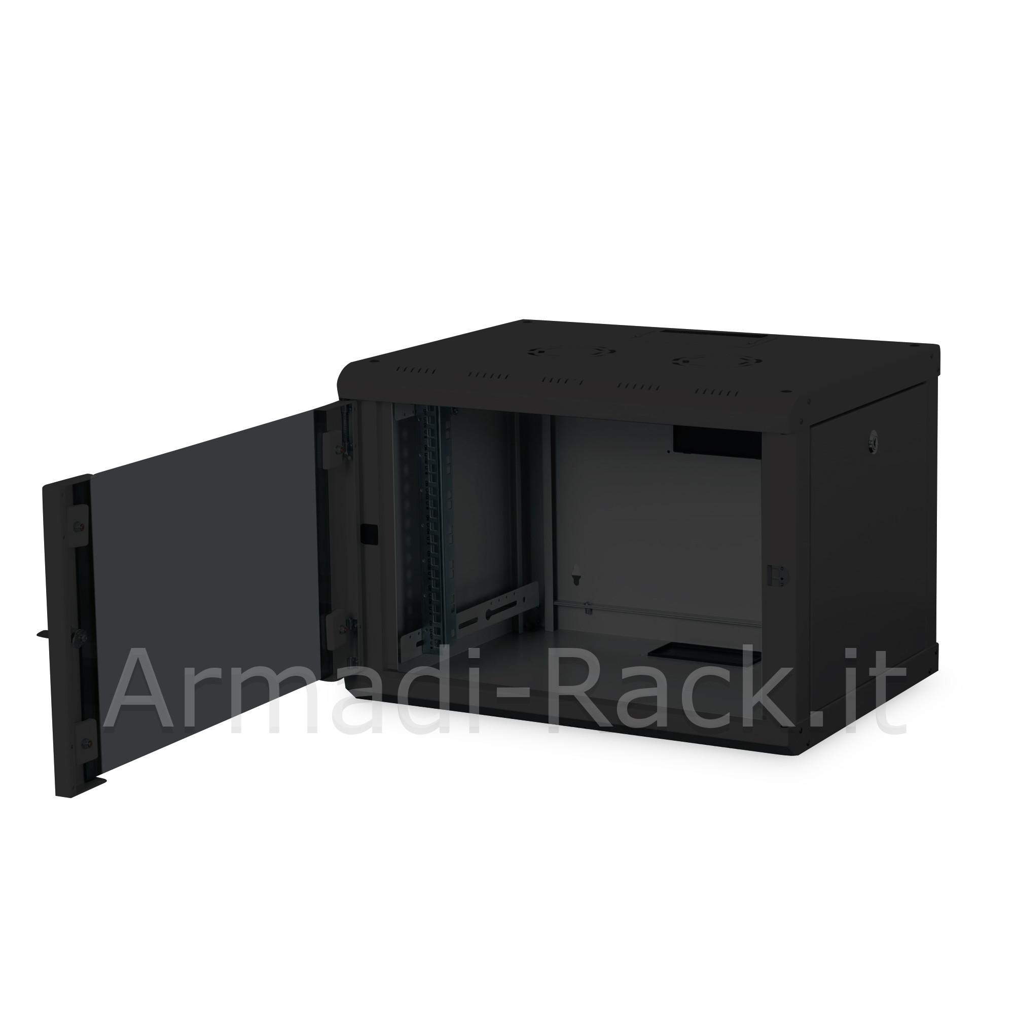 Armadio 7 unita' da muro linea soho (a)420 x (l)600 x (p)450 mm. colore nero