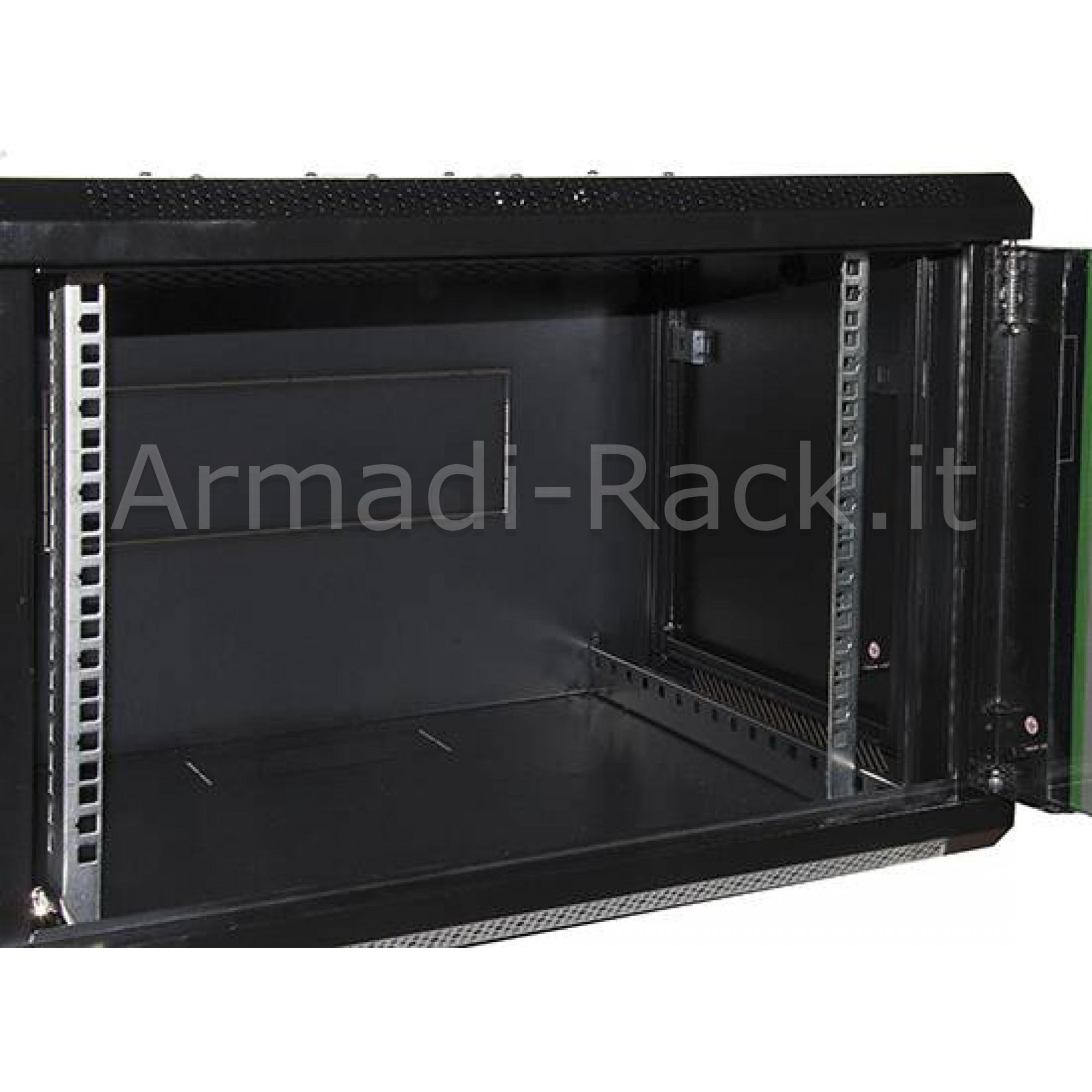 Armadio 7 unita' da muro linea soho (a)416 x (l)600 x (p)450 mm. colore nero RAL 9005