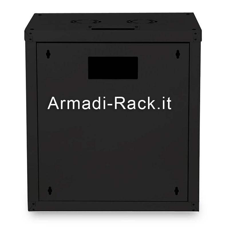 Armadio 12 unita' da muro linea soho (a)643 x (l)600 x (p)600 mm. colore nero RAL 9005