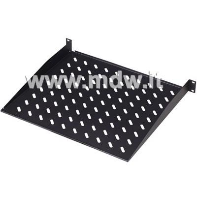 Ripiano per armadi rack 19 pollici, occupa 1U (un unità rack), profondo 250 mm, colore nero RAL9005 (DN-19 TRAY-1SW)