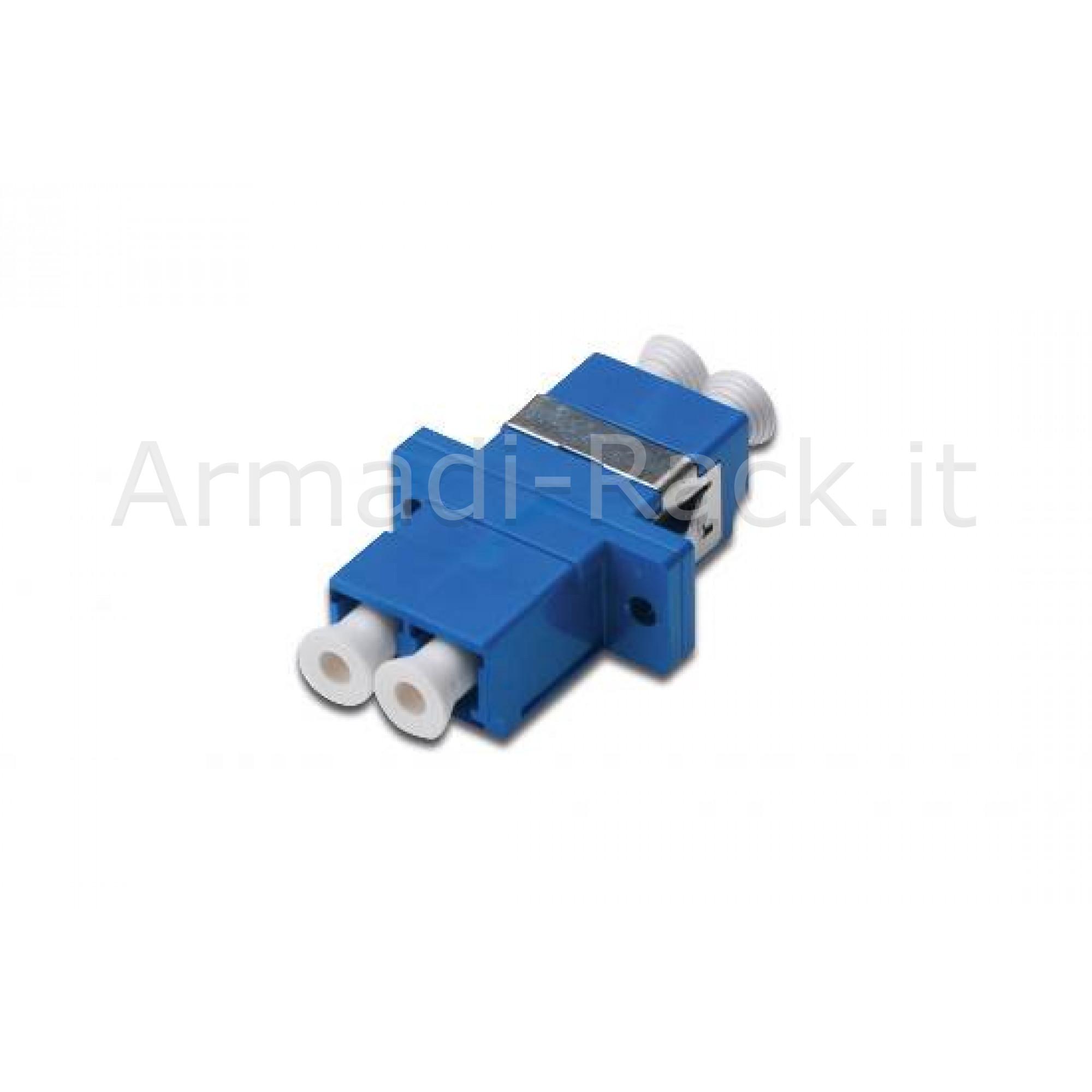 Accoppiatore fibra ottica lc / lc monomodale