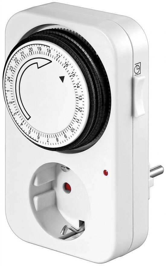 Presa 220 volt con timer analogico spina tedesca