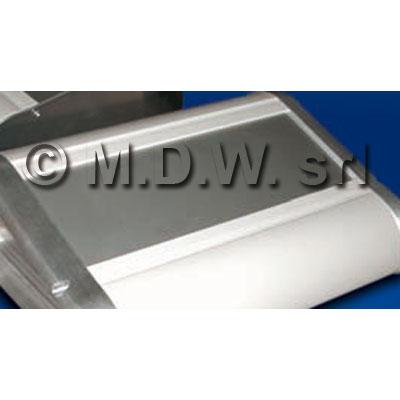 Frontale in alluminio anodizzato naturale spessore 2 mm larghezza 450