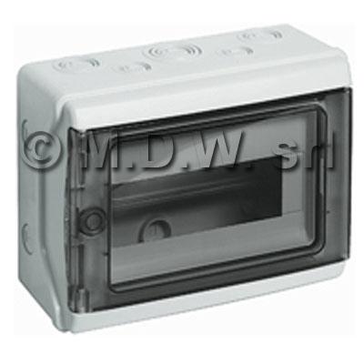Centralini btdin centralino da parete in plastica ip65 con singola guida din da armadi rack - Guida da parete ...