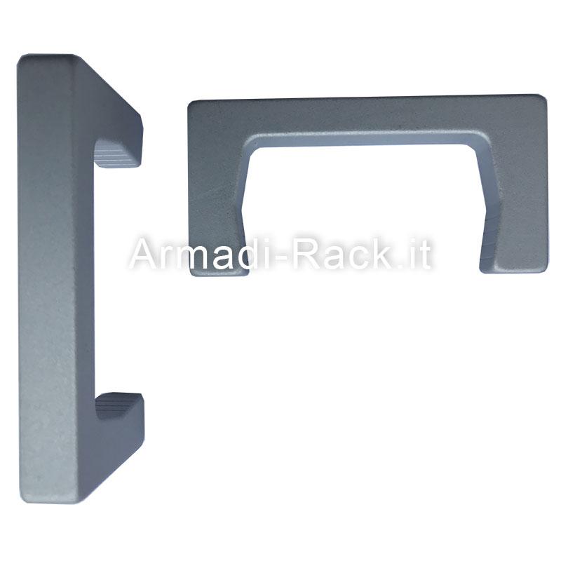 kit maniglie a ponte monoblocco in alluminio anodizzato h40 filetto m5