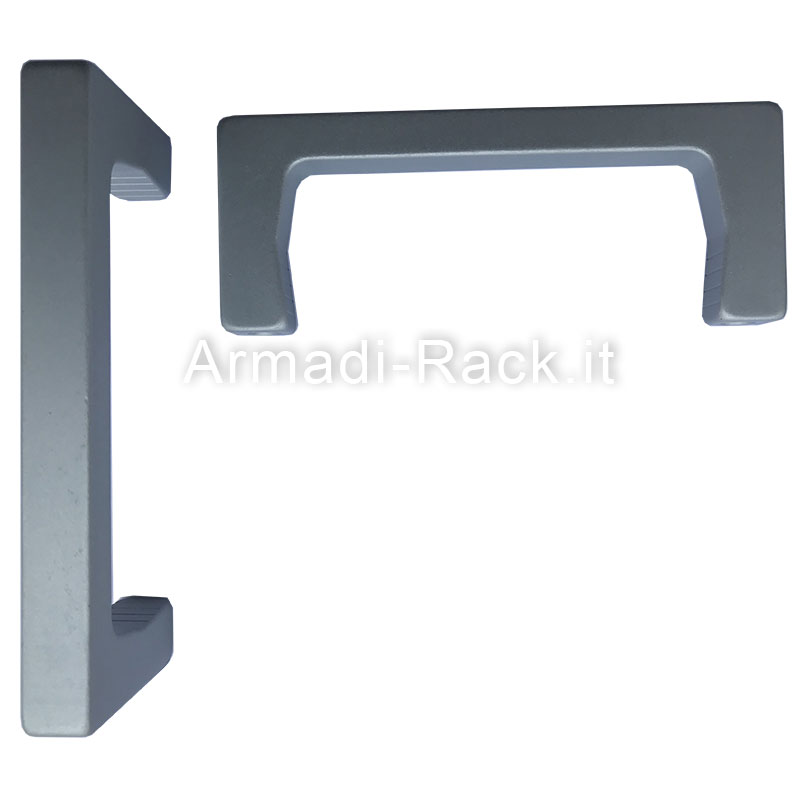 Kit coppia maniglie monoblocco in alluminio altezza 40 mm, filetto M5, per cassetti e subrack 3U
